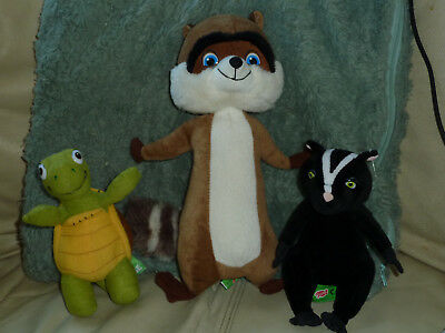 OVER THE HEDGE - Dreamworks Soft Plush Toys STELLA The SKUNK & VERNE The TURTLE