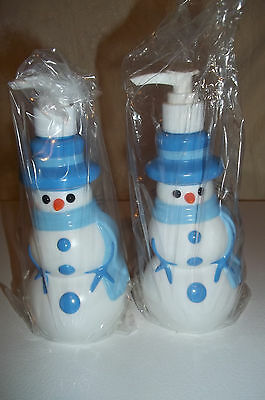 2 New Avon Snowman Soap Lotion Pump Dispenser Gifts Holidays