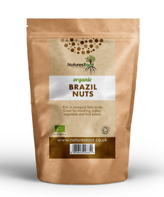 Organic Brazil Nuts - 100% Whole Natural Raw | Best Quality | Edible Shelled Nut
