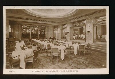LONDON Strand Palace Hotel Restaurant c1900/10s? RP PPC by Kingsway