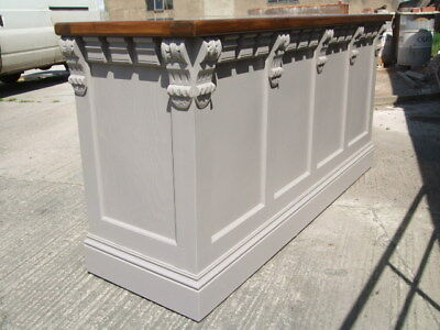 MP~777  Handmade painted Victorian style shop display /reception / bar / counter