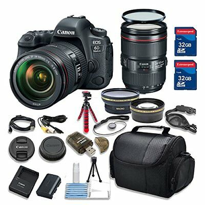 Canon EOS 6D MARK II 26.2 MP DSLR Camera HD Video with Canon EF 24-105mm Lens
