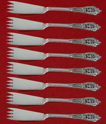 "Rose Point by Wallace Sterling Silver Escargot Fork Set Custom 5 1/2"" Unusual"