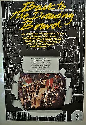 Victoria & Albert V&A Museum Back to the Drawing Board TV Design Poster 1975