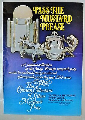 Victoria & Albert V&A Museum Pass the Mustard Please Exhibition Poster Vintage