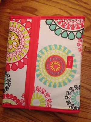Thirty One Fold It Up Organizer Citrus Medallion Tablet Case