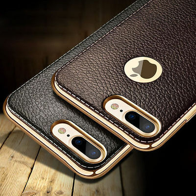 For iPhone X 8 6 7 5 SE Plus Luxury Ultra-thin PU Leather Soft Phone Case Cover