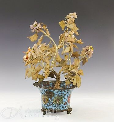 Antique Chinese Cloisonne Footed Planter Vessel - Ming Dynasty
