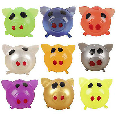 1X Anti-stress Decompression Splat Ball Vent Toy Smash Various Styles Pig Toy BE