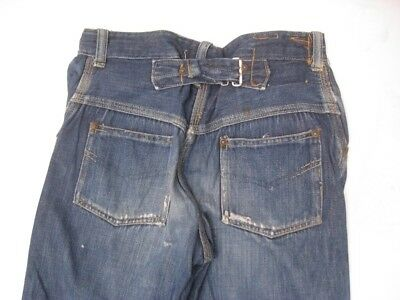 Vintage 1930s KIDS SIZE Buckle Back Cinch Jeans Button Fly Size 22 X 23