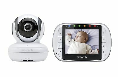 "Remote Wireless Video Baby Monitor 3.5"" Color LCD MOTOROLA BABY MONITOR Cam Pan"