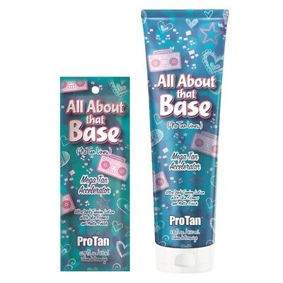 Pro Tan All About That Base sunbed tanning lotion accelerator with skin firmers