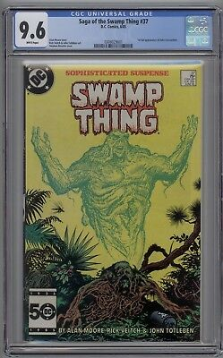 Saga of the Swamp Thing # 37 CGC 9.6 NM+ 1st Full Appearance of John Constantine