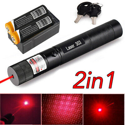 650nm 303 Pen Red Visible Light Zoom Laser Pointer Pen Lazer 18650 Battery