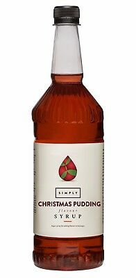 Simply Luxury Natural Flavour Sirup Christmas Pudding,Kaffee,Weihnachten,Aroma,