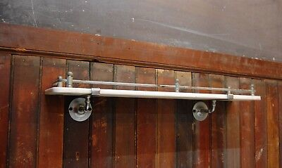 Milk Glass Shelf Nickel Hardware Sternau Manufacturing Co Bathroom Antique