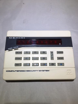 Gemini Computerized Security System Control Panel Keypad GEM-P800