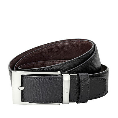 Montblanc Reversible Black and Brown Saffiano Leather Belt
