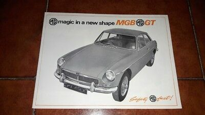 Brochure Depliant Advertisement Mg Mgb Gt English 1965