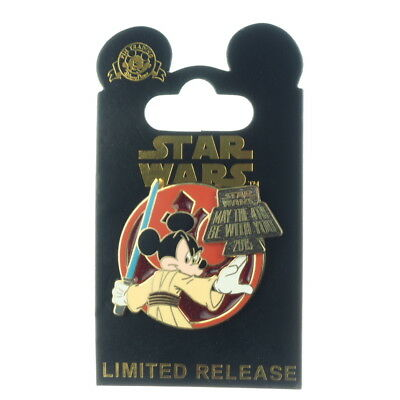 Disney Star Wars Jedi Mickey May The 4th Fourth Be With You 2015 LE Pin - NEW