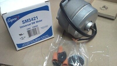Motor, Condensor, USED ON 90% of Display Coolers/Freezers, 9W, 230V, CW, 1550RPM
