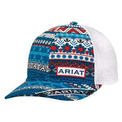 Ariat Womens Hat Baseball Cap Mesh Snap Back Patch Multicolor 1505997 45937a224410