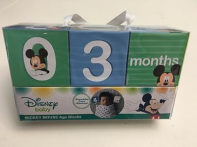 New! Disney Baby Mickey Mouse Age Block For Photo Taking Capture The Milestones