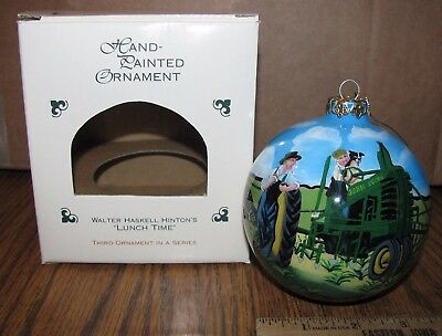 *John Deere B Tractor Christmas Ornament Walter Haskell Hinton LUNCH TIME 3rd jd