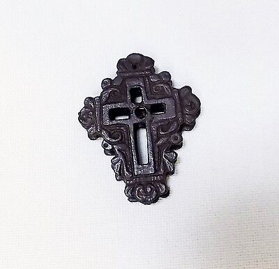 Antique ANCIENT BRASS BYZANTINE CROSS DOUBLE FACE REPLICA