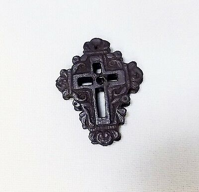 Antique ANCIENT Encolpion BRASS BYZANTINE Orhtodox CROSS DOUBLE FACE REPLICA