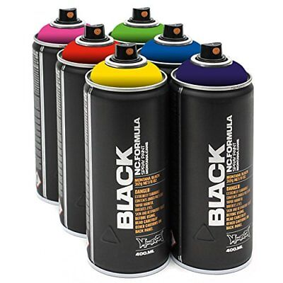 Montana Black 6x 400ml Power Sprühdosen Pack Try Out Set