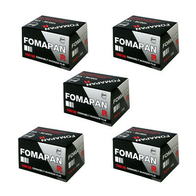 5 x Foma Fomapan R 100 ISO Black & White Reversal Slide Film 35mm 36 exp. FRESH
