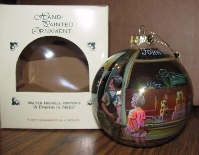 *John Deere A Tractor Christmas Ornament Walter Haskell Hinton FRIEND NEED  1st