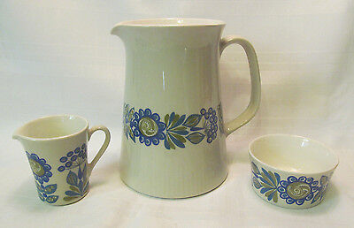 Figgjo Flint Norway TURI GRAMSTAD-OLIVER 3 Piece Set 36 OzPitcher Sugar Creamer