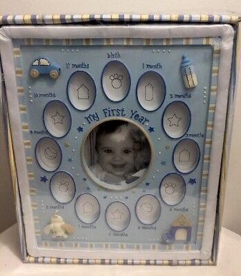 Baby Essentials My First Year Baby Frame can Hang or Stand New in Box