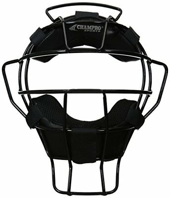 Champro Adult Dri-Gear Umpire Face Mask Lightweight Ergo Fit 18 oz. Black CM72B