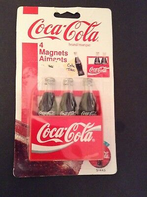 Vintage Coca Cola 3 Bottle magnets .New in package 1995. Collectibles.
