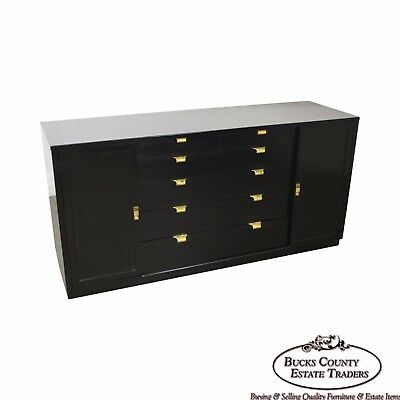 Edward Wormley for Drexel Precedent Mid Century Black Painted Sideboard