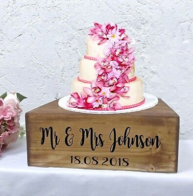 Rustic Wedding Cake Stand Wooden Personalised Table Decoration Vintage Crate