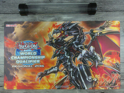YGO Red-Eyes Flare Metal Dragon 2016 WCQ Custom High Quality Playmat Free Tube