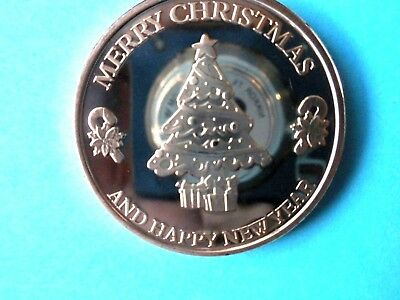 Merry Christmas And Happy New Year 1Oz Copper Round
