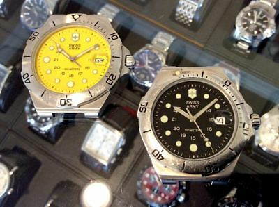 Lot Of 2 Victorinox Dive Master 300 Meters Yellow Dial /  Black Dial For Parts