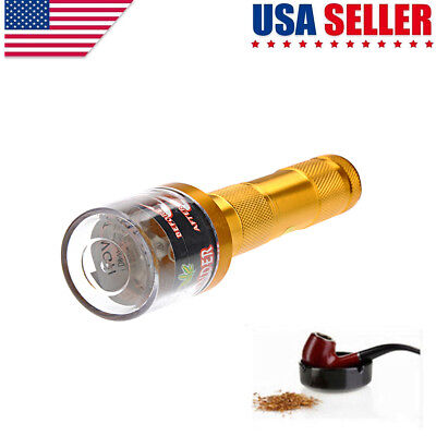 Electrical Aluminum Metal Grinder Crusher Crank Tobacco Smoke Spice MullerGolden