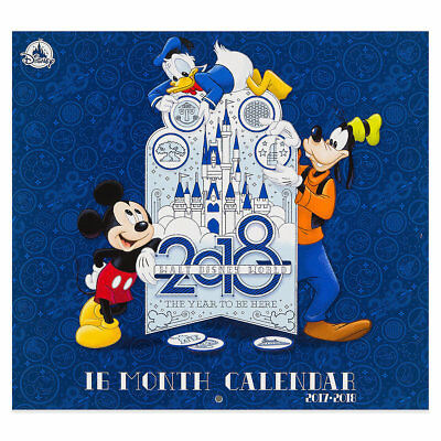 New Walt Disney World 16 Month Wall Calendar 2018 Mickey Minnie Gang Parks NIP