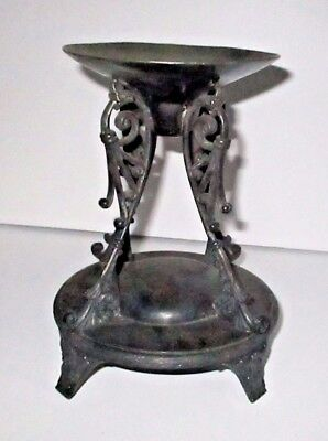 Antique Silverplate Bride's Basket Holder Victorian Stand Mermod Jaccard & Co