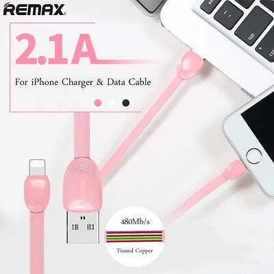 REMAX For iPhone X 8 7 6 Plus Charging Data Sync Cable Cord 2.1A Fast Charging