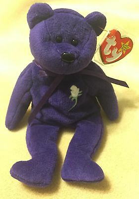 Princess Diana Ty Beanie Baby 1St Edition Nm Condition /tush Tag-Pvc Oakbrook
