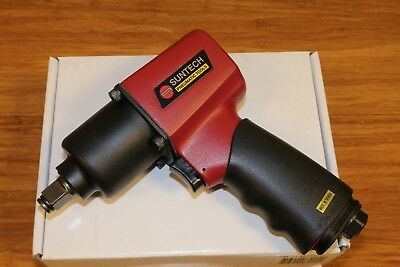 "Suntech Pneumatic Air 1/2"" Mini Twin Hammer Heavy Du Impact Wrench Comfort Grip"