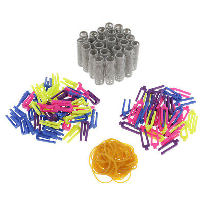 24 DIY Sticky Styling Rollers Self Grip Cling Curler Set +50 Hair Curl Clips
