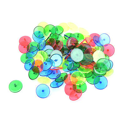 100x Plastic Assorted Golf Ball Position Marker Dia 24mm Golf Games Accessorie: